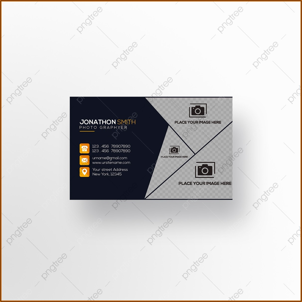 Photography Business Card Vector Free Download