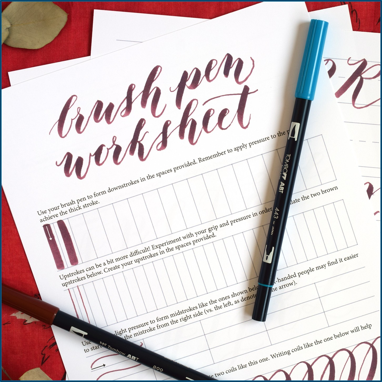 Printable Brush Calligraphy Practice Sheets Pdf