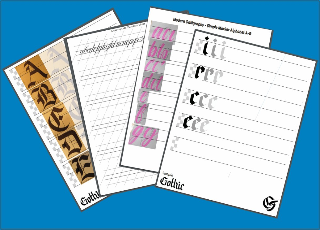 Printable Calligraphy Practice Sheets Pdf Free