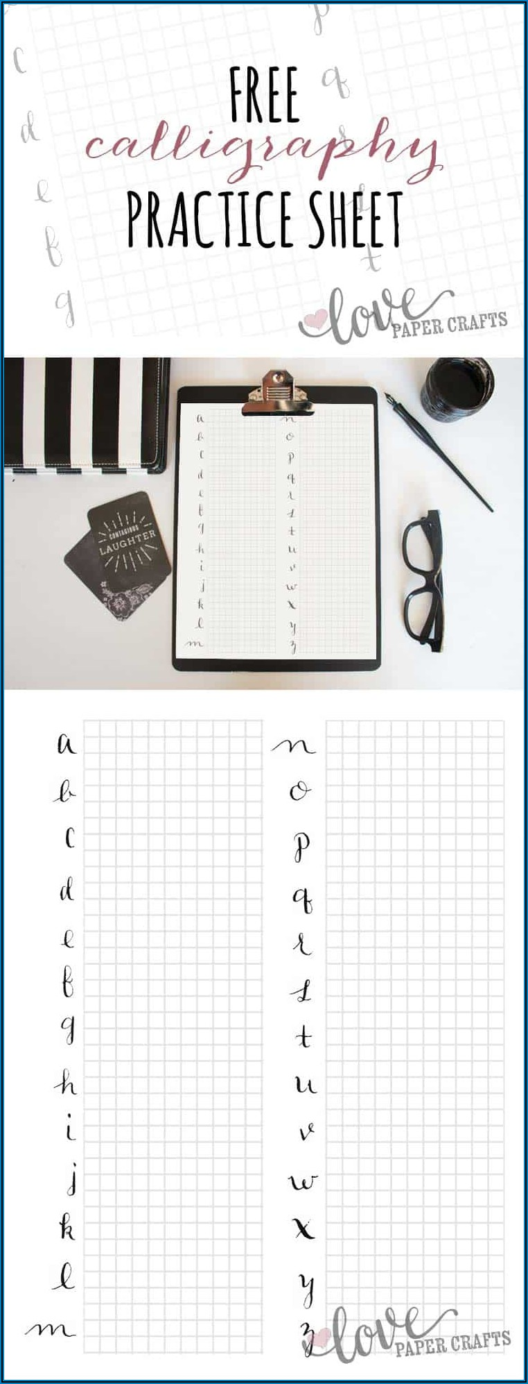 Printable Calligraphy Practice Sheets Pdf