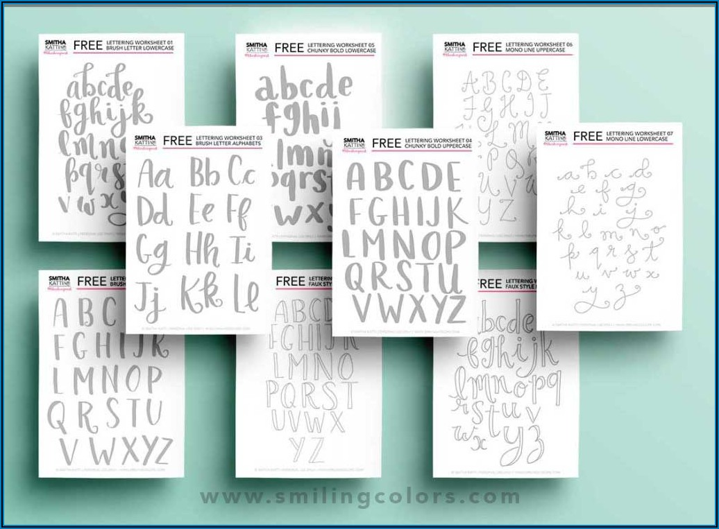 Printable Hand Lettering Practice Sheets