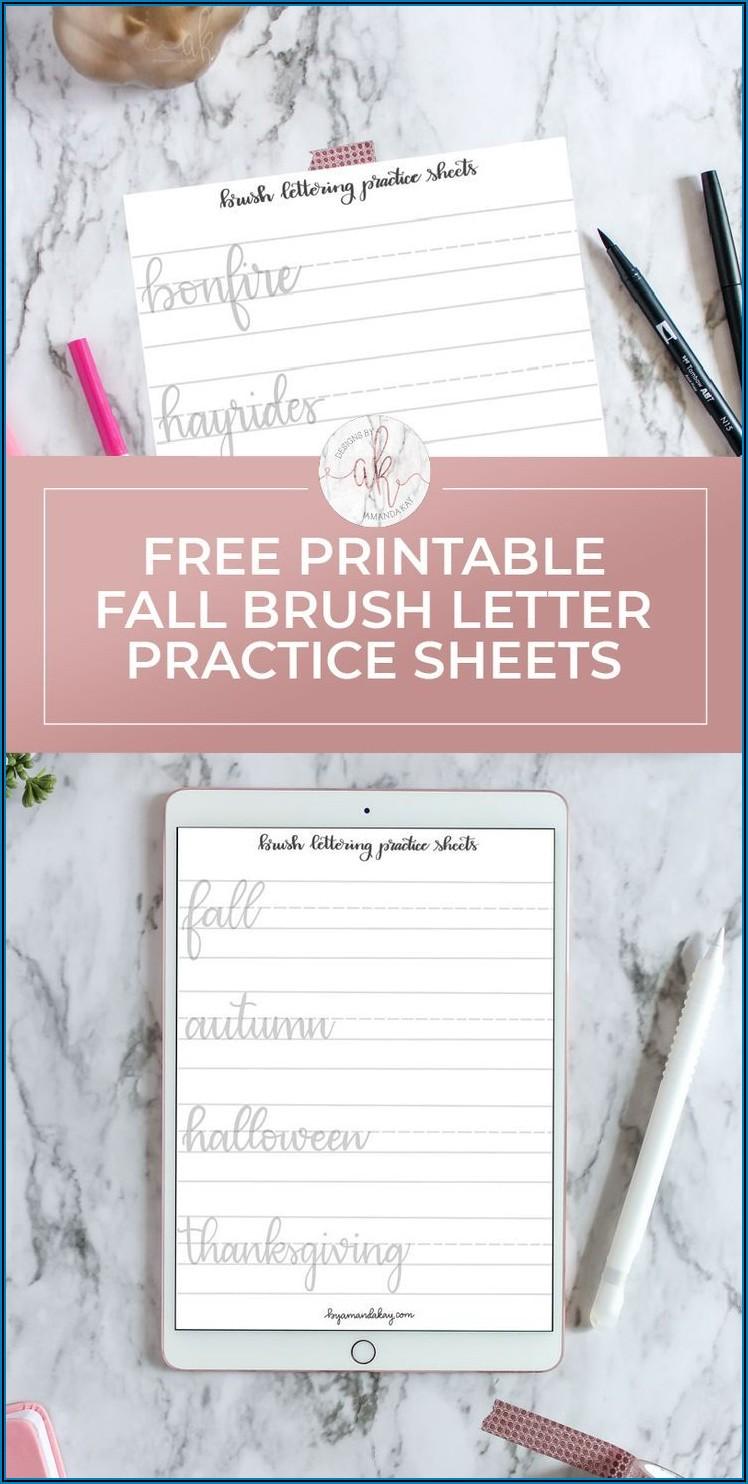 Printable Worksheet Hand Lettering Practice Sheets