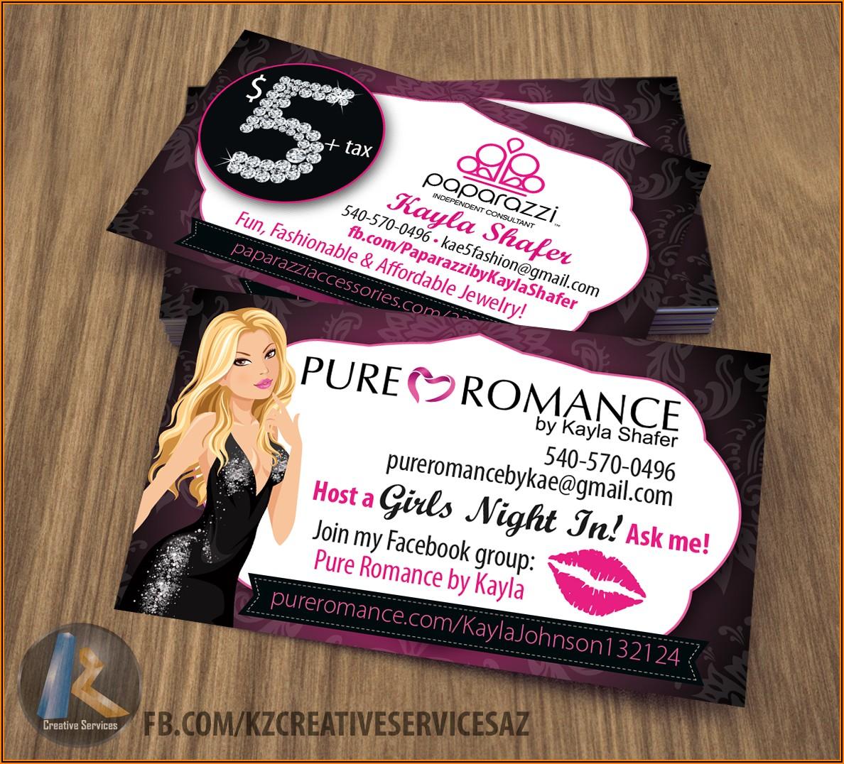 Pure Romance Business Card Template