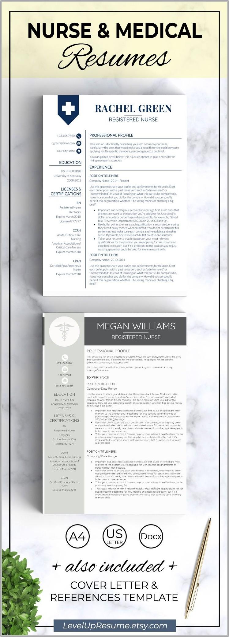 Registered Nurse New Grad Resume