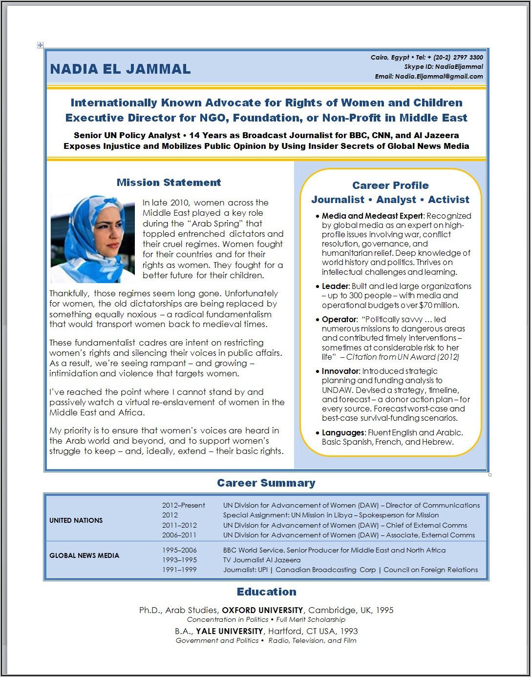Resume For Experienced Registered Nurse