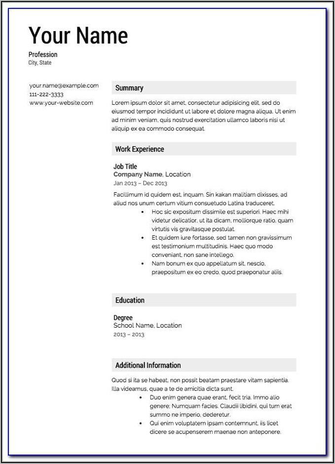 Resume Template For Heavy Equipment Operator