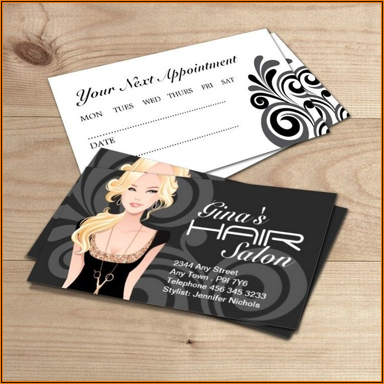 Sample Hair Stylist Business Cards