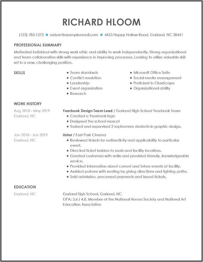 Sample Resume For New Graduate Registered Nurse