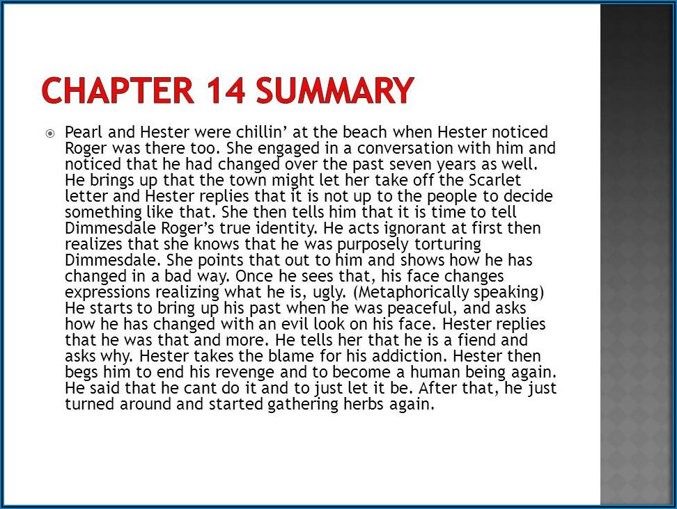 Scarlet Letter Chapter 13 15 Quizlet