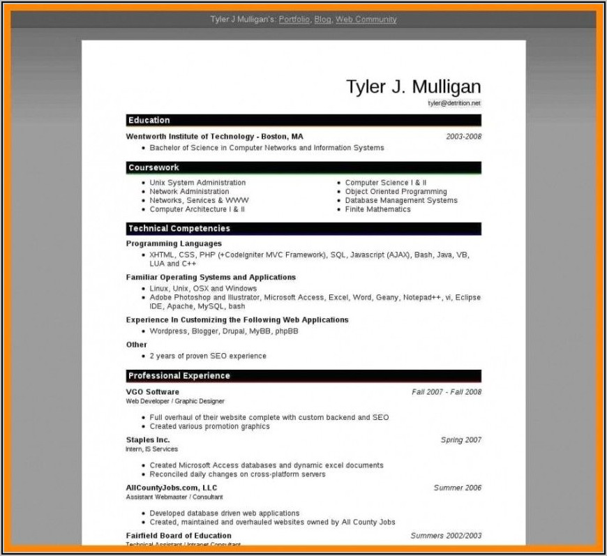 Science Teacher Resume Format In Word Free Download