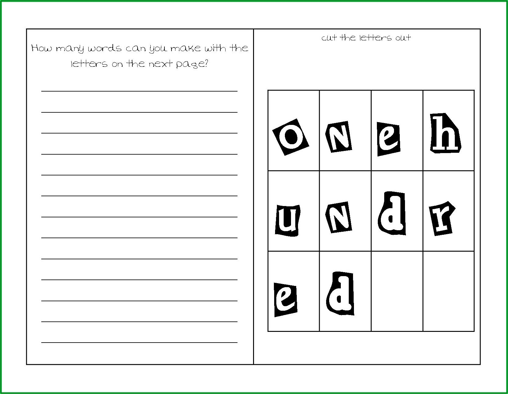Science Worksheets For Second Graders