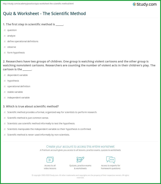 Scientific Method Practice Worksheet Answers