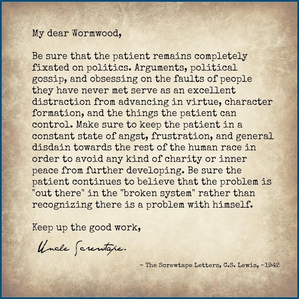 Screwtape Letters Quotes Shmoop