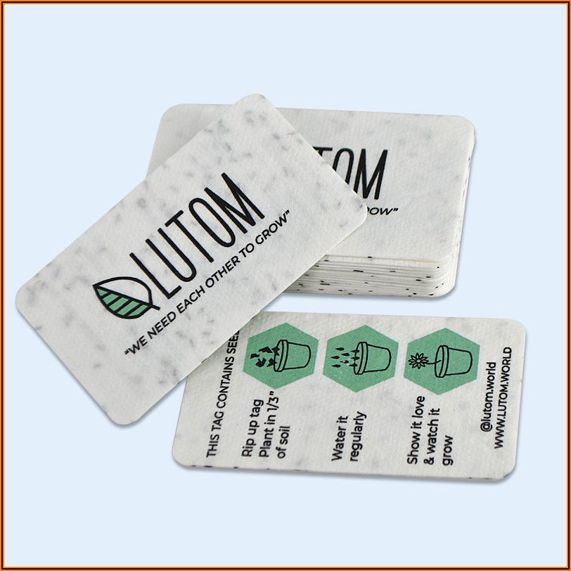 Seed Business Cards Canada
