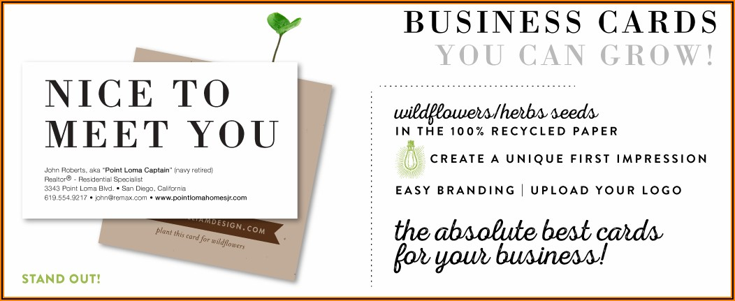 Seed Paper Business Cards Canada