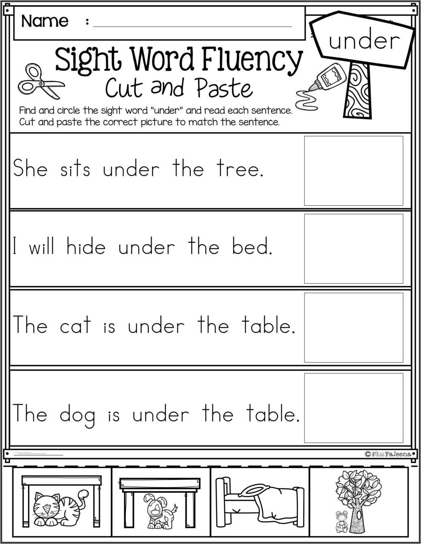Simple Sentence Writing Worksheets Pdf