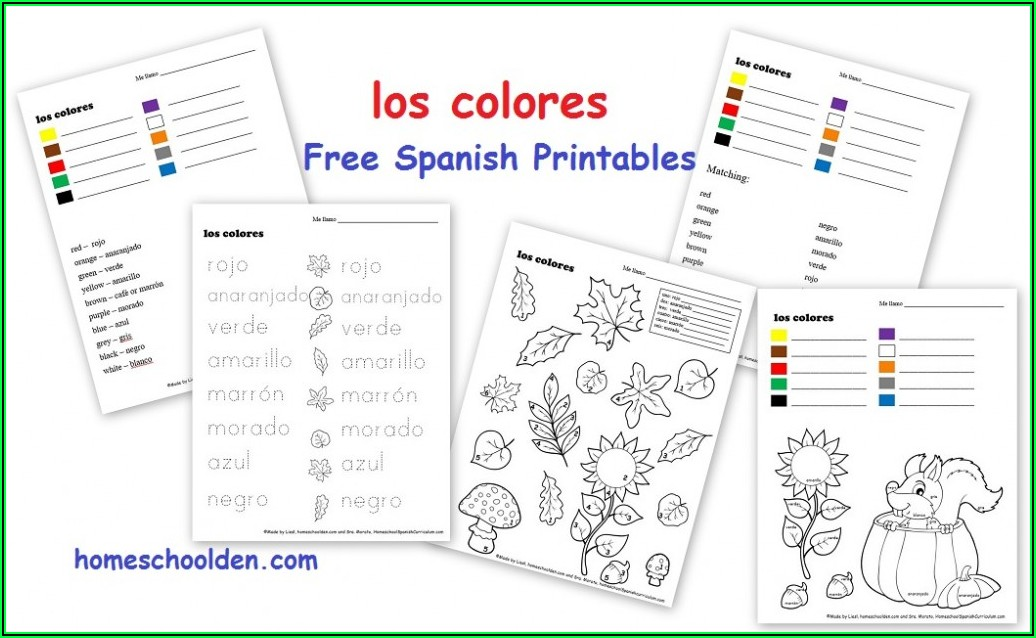 Spanish Colour By Numbers Worksheet