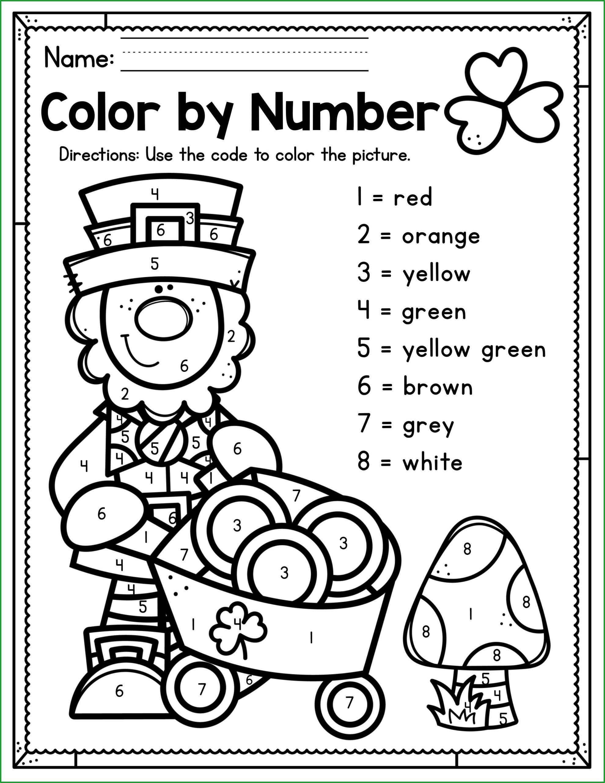 St Patrick's Day Preschool Worksheets