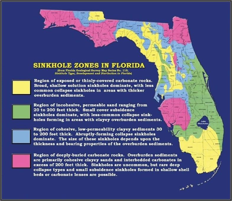 Tampa Florida Sinkhole Map 2018