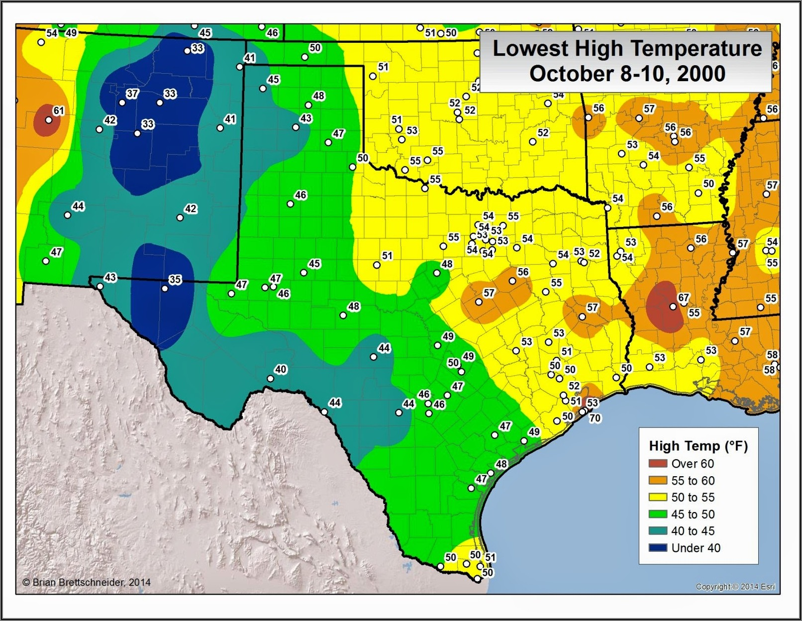 Texas Weather Map Temperature