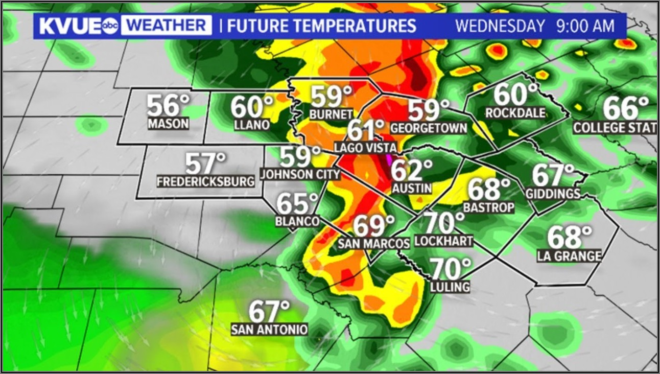 Today Current Today Texas Weather Map