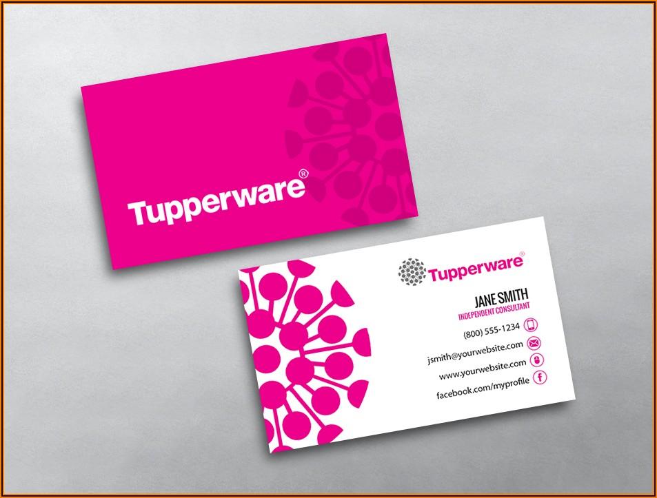 Tupperware Business Cards Vistaprint