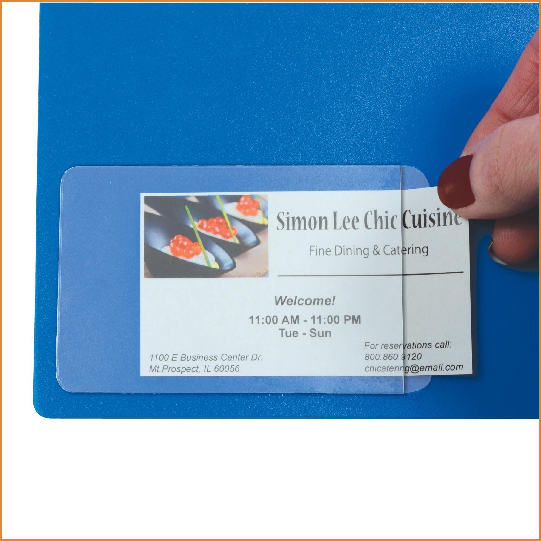 Uline Adhesive Business Card Holder