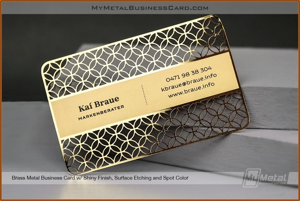 Vistaprint Metallic Business Cards Review