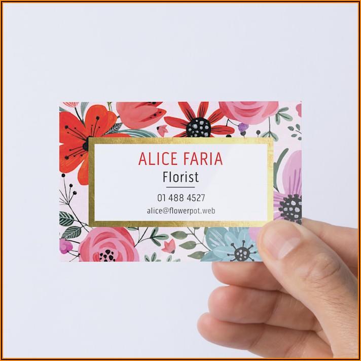 Vistaprint Metallic Business Cards