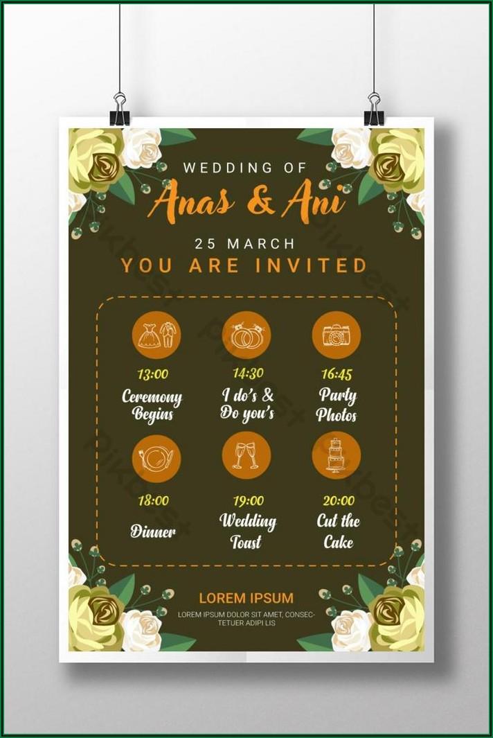 Wedding Timeline Template Free