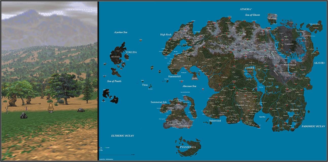 Witcher 3 Map Size Vs Skyrim