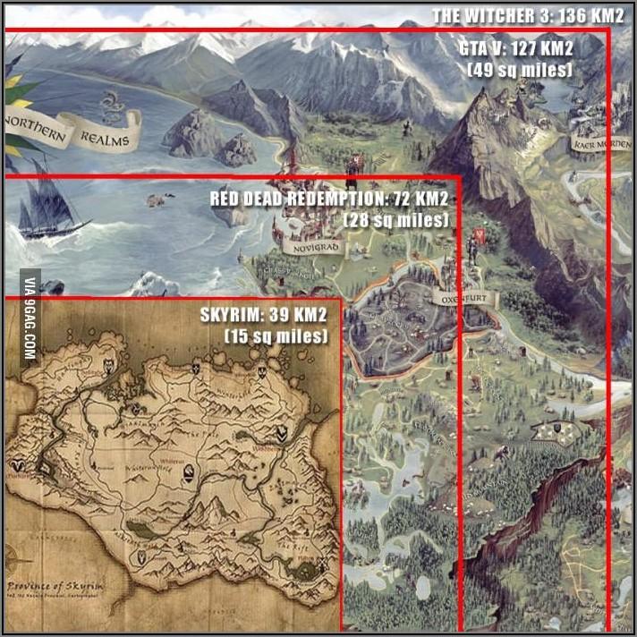 Witcher 3 Map Vs Skyrim