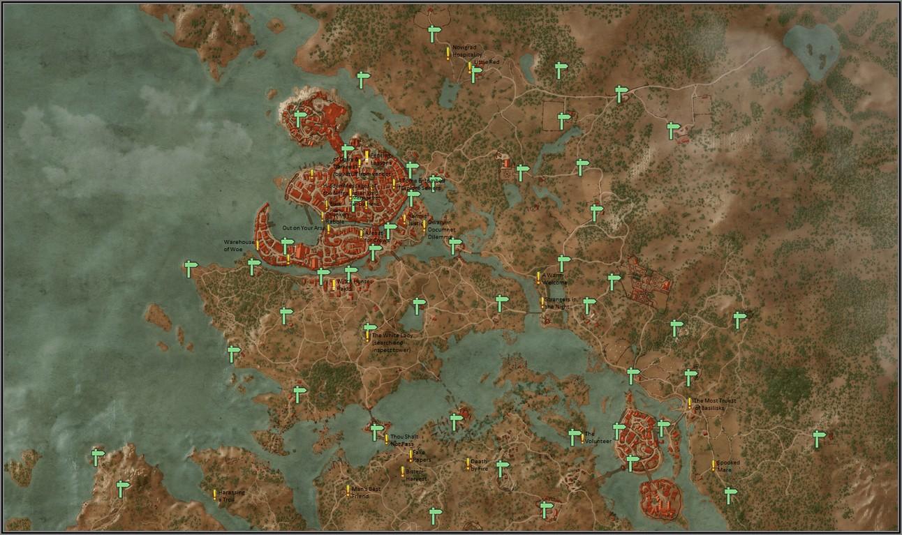 Witcher 3 Velen Map Complete