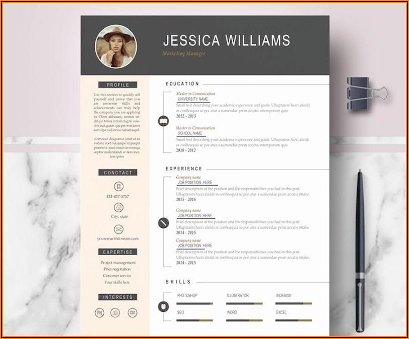 Word Document Templates For Resume