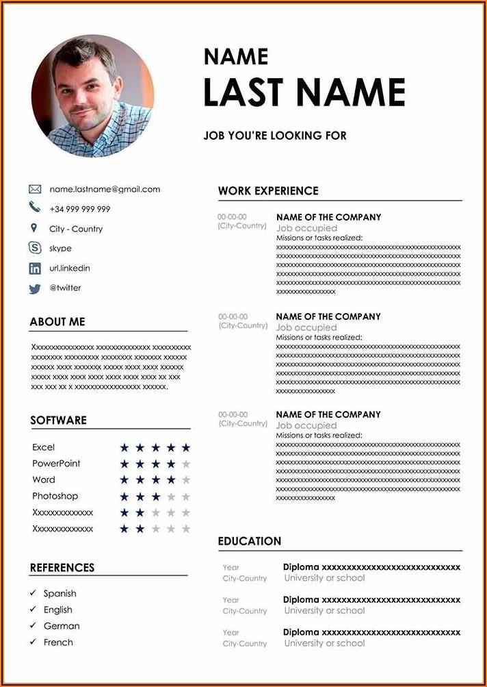 Word Format Resume Free Download