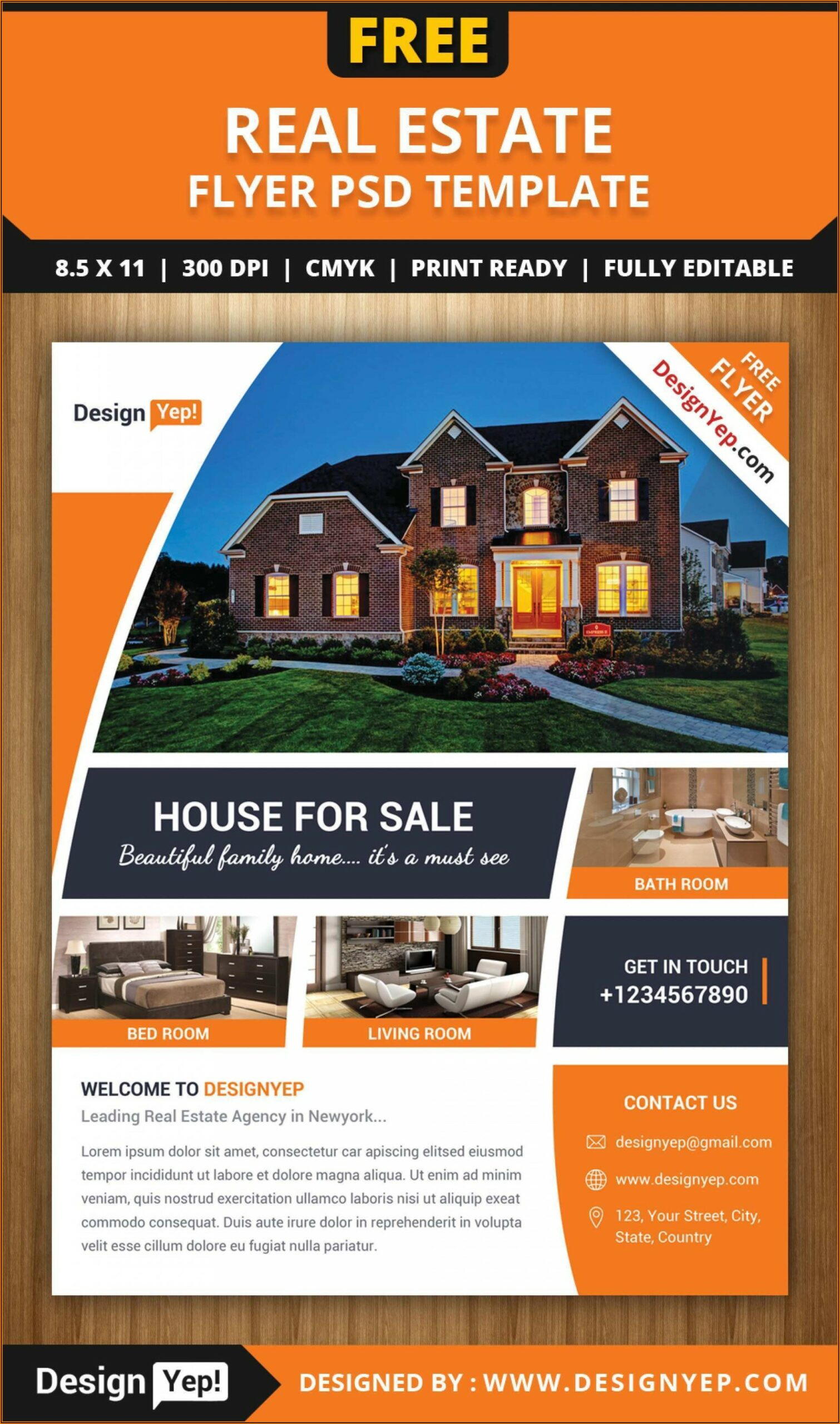 Word Template For Real Estate Flyer