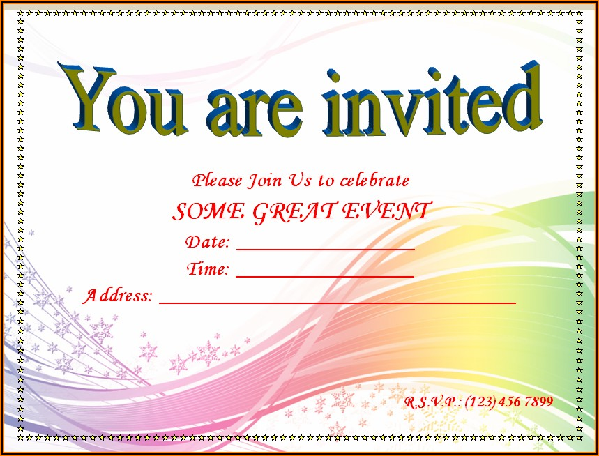 Word Templates For Event Invitation