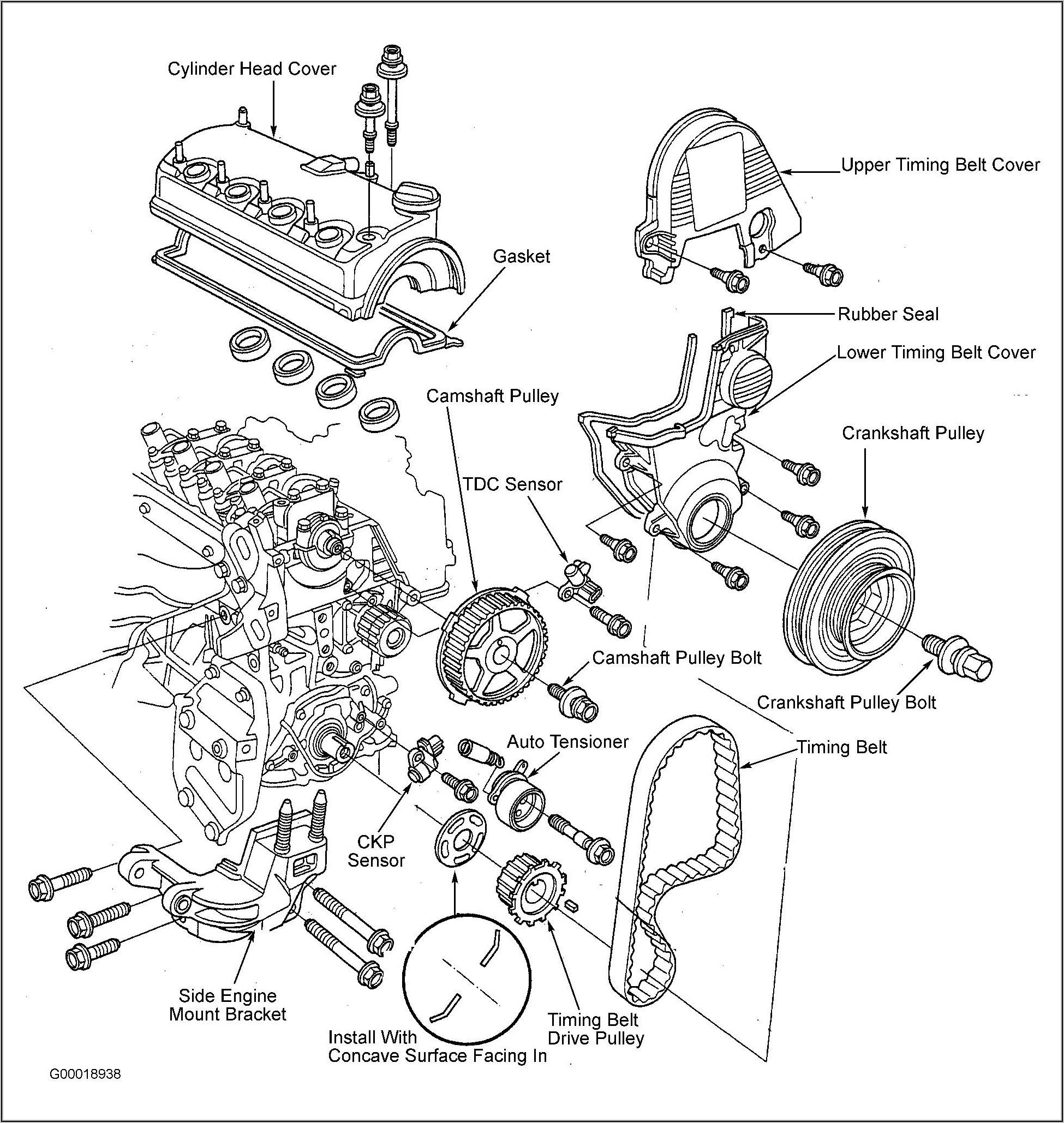 1998 Honda Civic Engine Mount Diagram