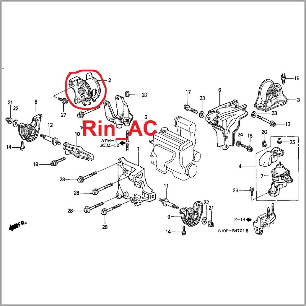 2000 Honda Civic Engine Mount Diagram