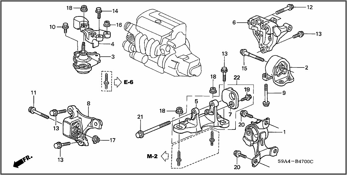 2003 Honda Civic Engine Mount Diagram
