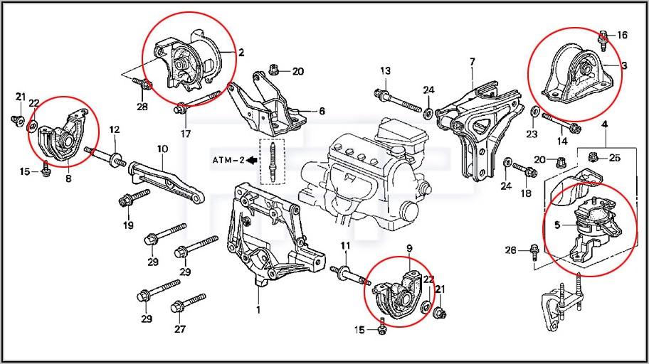2012 Honda Civic Engine Mount Diagram