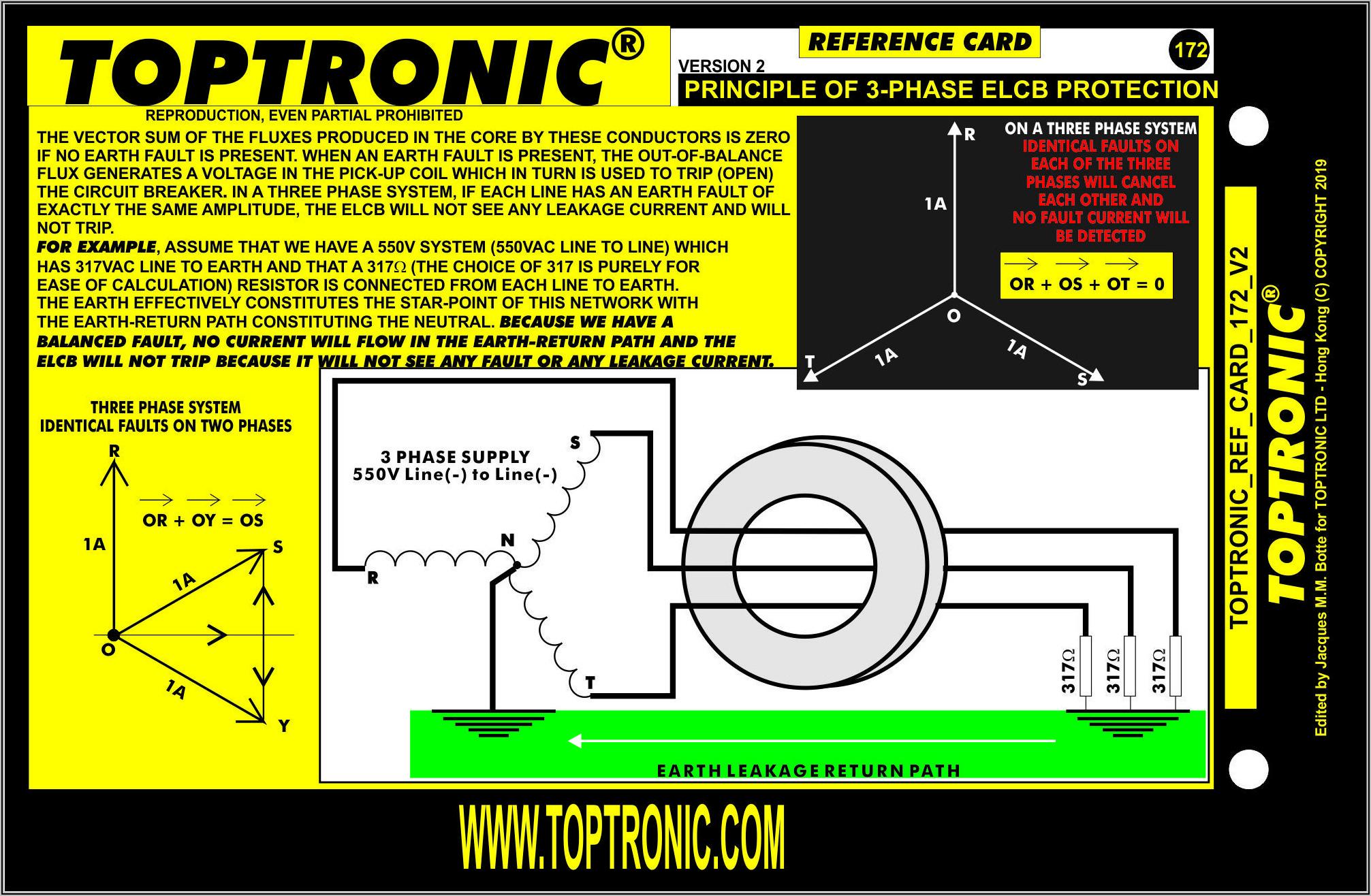 3 Phase Earth Leakage Circuit Breaker Diagram