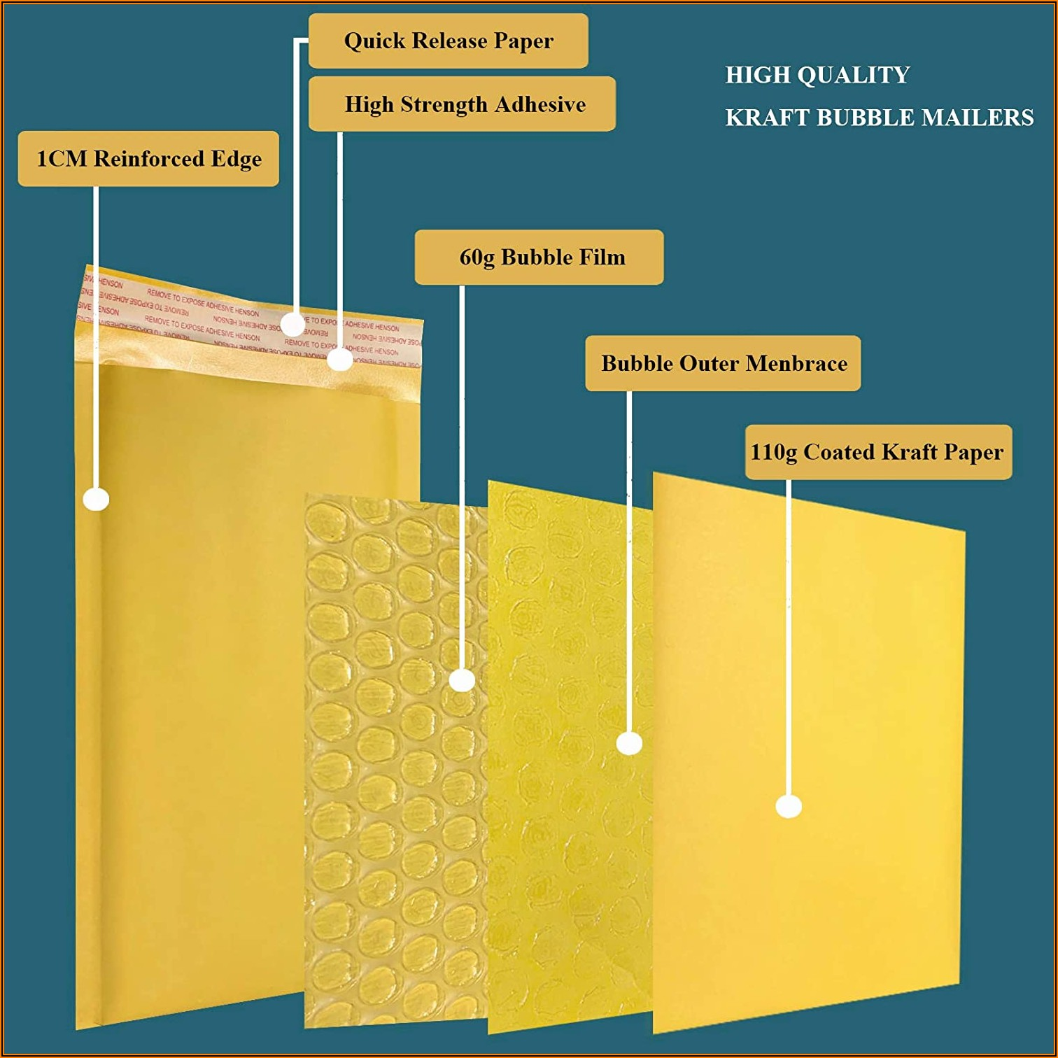 4 X 7 Padded Envelopes