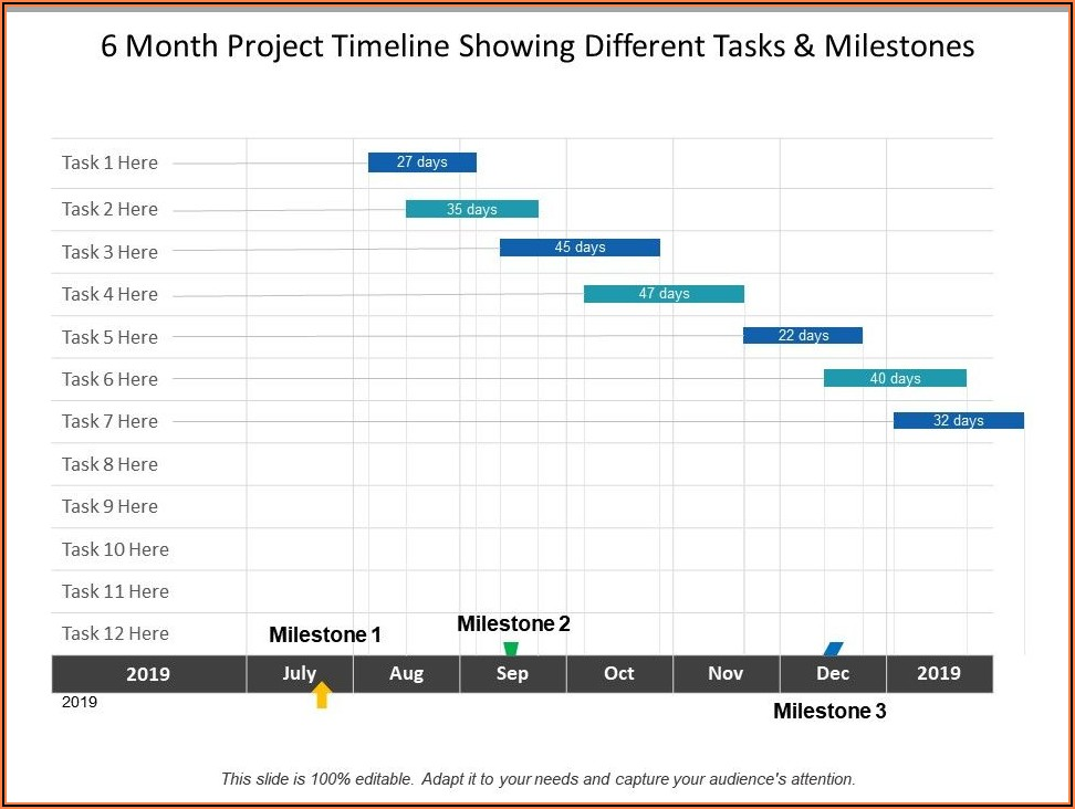 6 Month Timeline Template Powerpoint