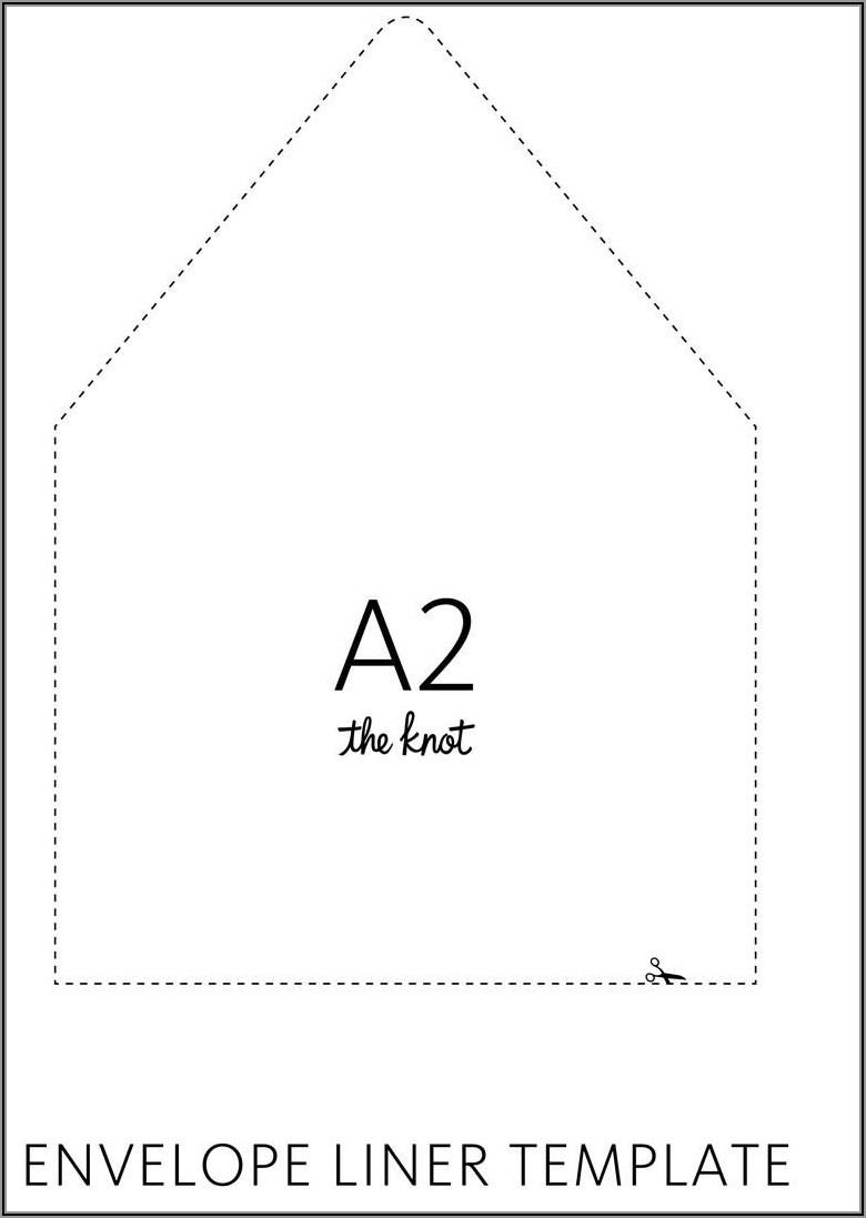 A7 Envelope Liner Template Illustrator