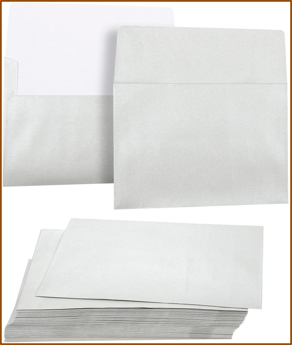 A7 Silver Metallic Envelopes