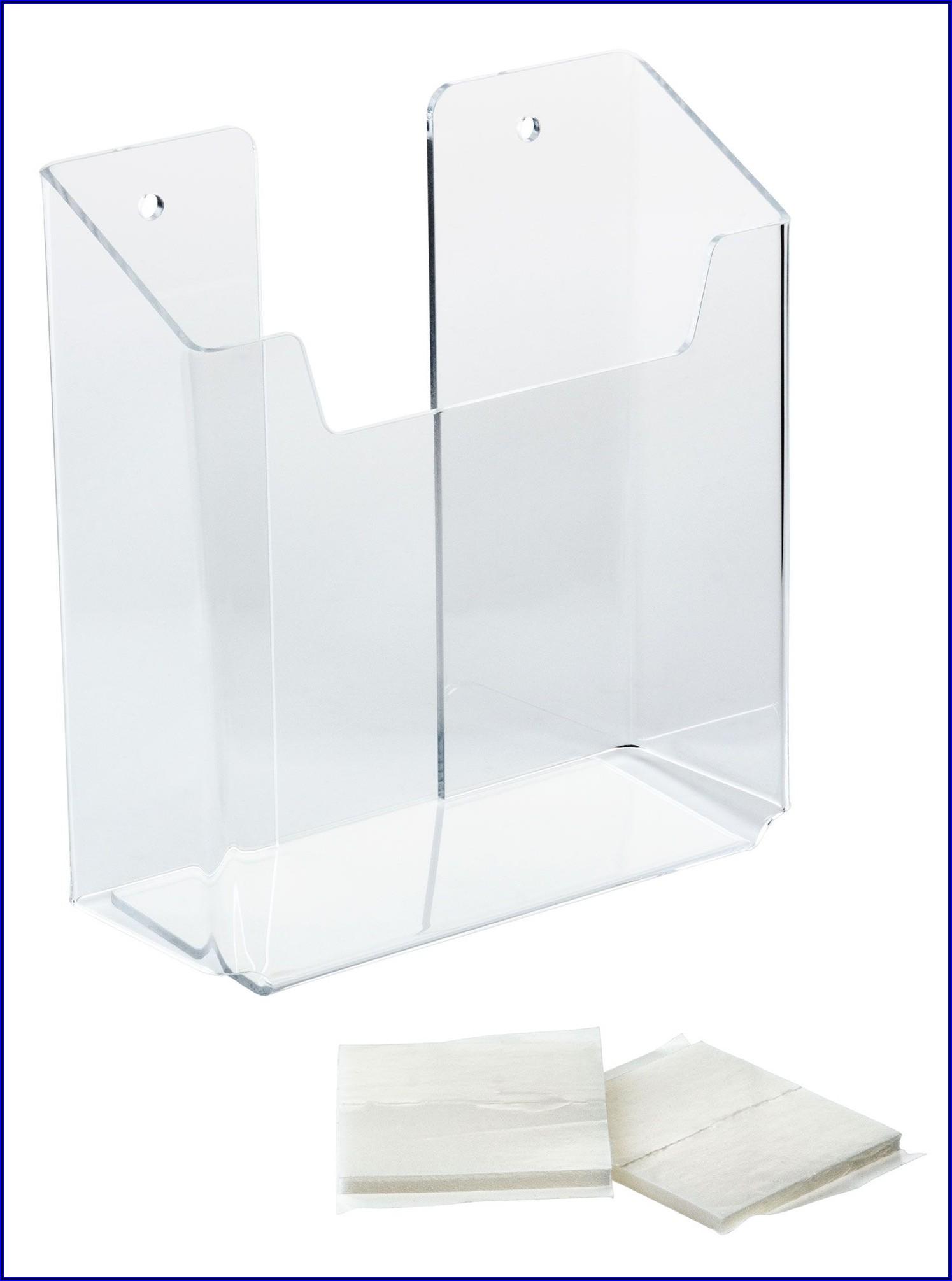 Acrylic Brochure Wall Rack 5.5 W Single Pocket Clear
