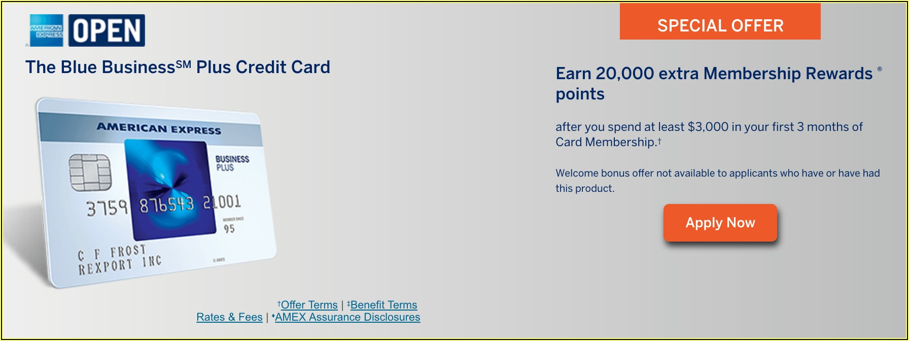 American Express Business Plus Card Benefits