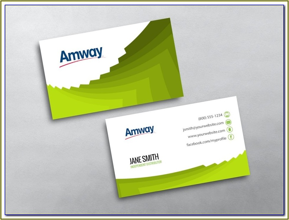 Amway Business Cards Samples
