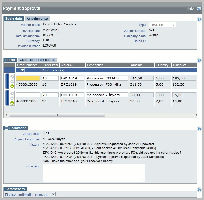 Ap Invoice Workflow In Sap